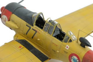 photo de la maquette du T-6 Texan d'Italeri au 1/48.