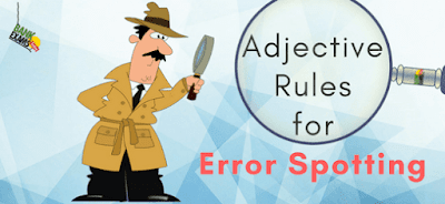 Adjective Rules for Error Spotting