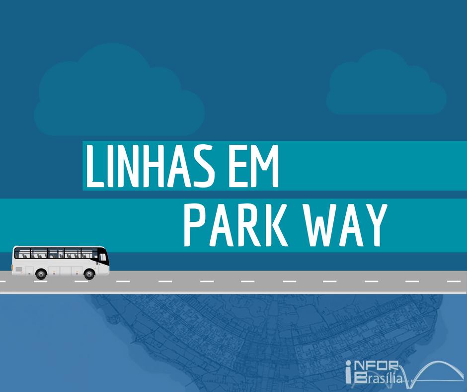 Horário de ônibus das linhas do Park Way