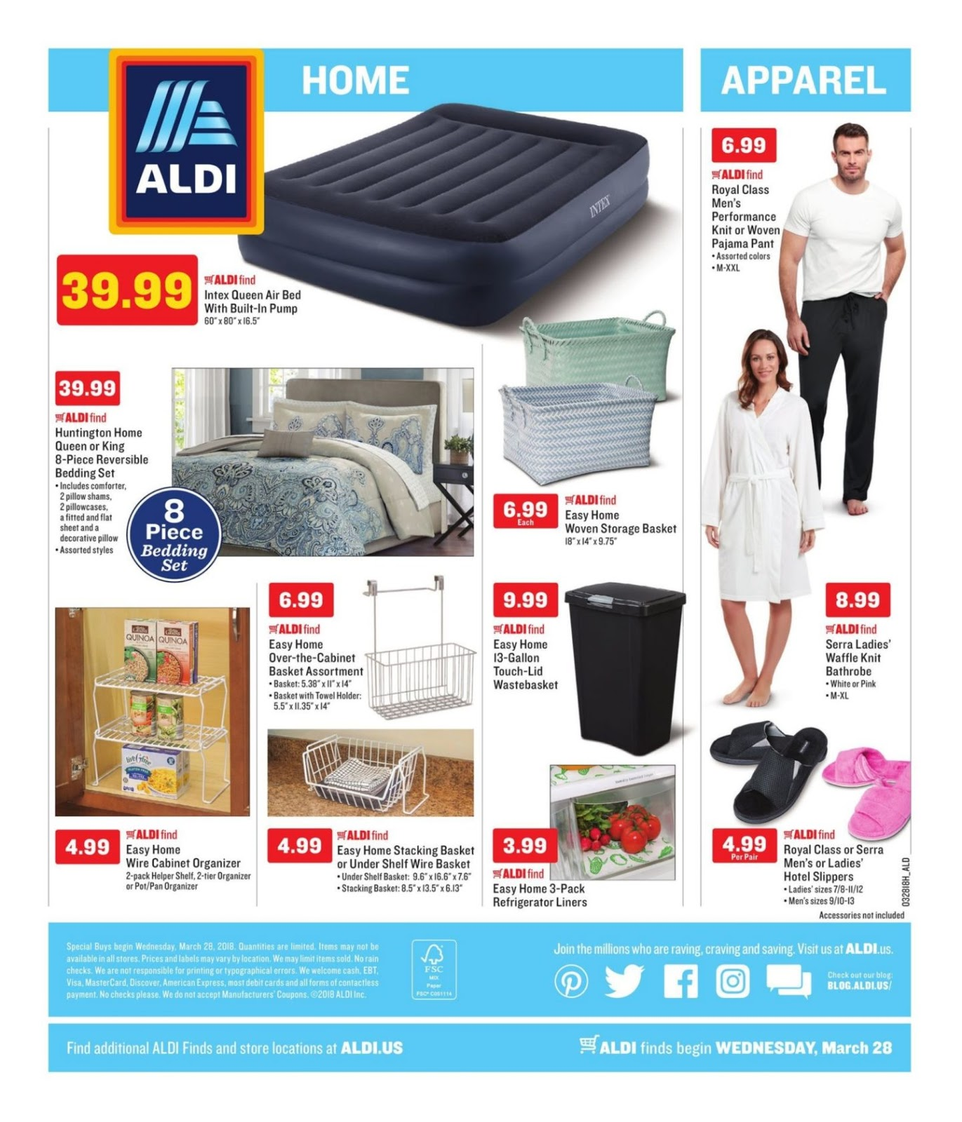Aldi Weekly Ad March 28 – April 3, 2018 | Weekly Ads, Circulars and ...