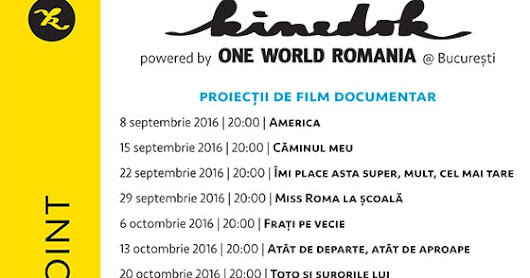 Documentare la Make a Point: programul lunii septembrie ~ Small Wonders