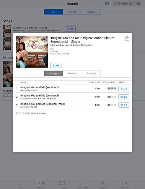 Imagine You and Me Movie Soundtrack is now available on iTunes