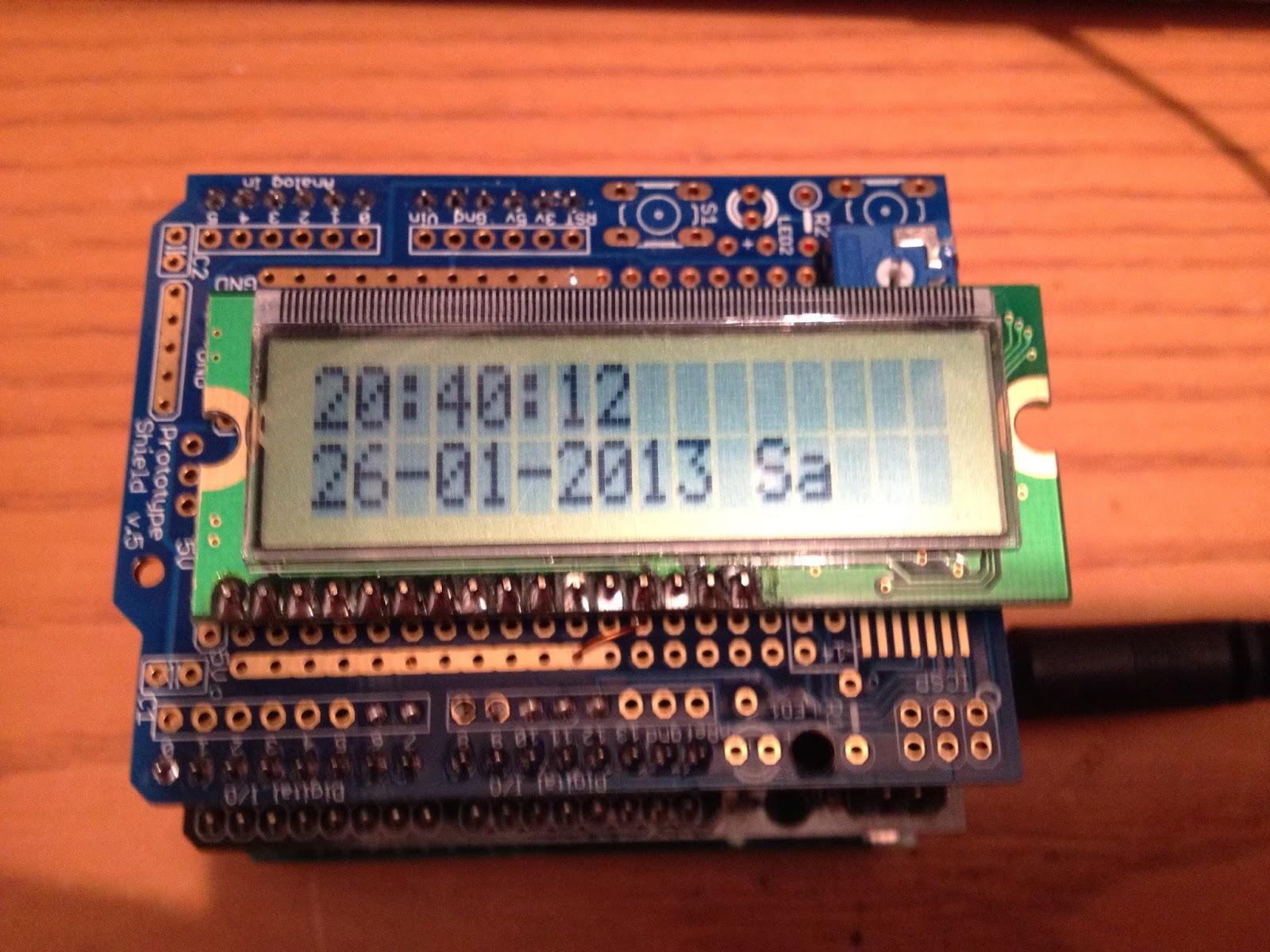 Thd arduino projekte dcf mit glcd display