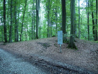 Infotafel an der Südwestecke der Keltenschanze Holzhausen 2