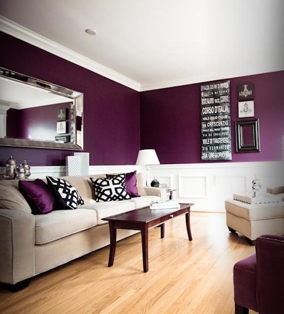 Decoraci n de salas en color violeta for Decorando mi sala