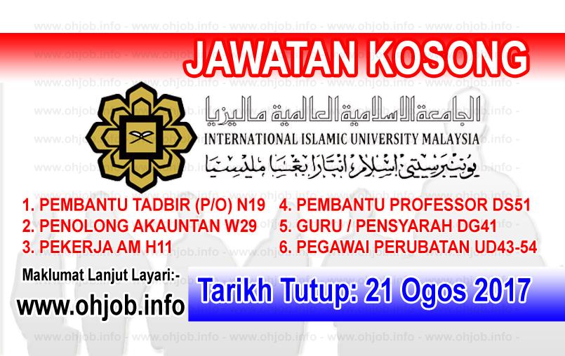 Jawatan Kerja Kosong Universiti Islam Antarabangsa Malaysia - UIAM logo www.ohjob.info ogos 2017