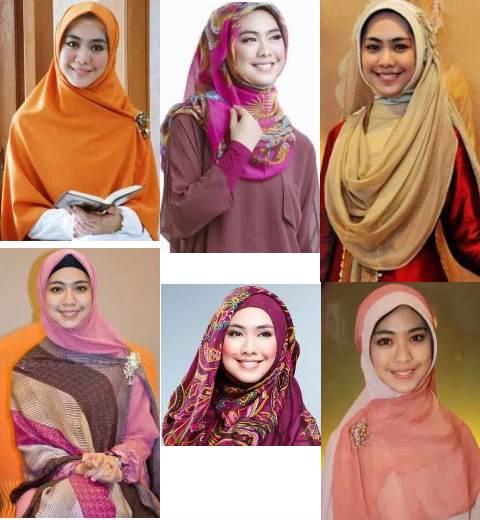 Model Gaya jilbab Oki setiana dewi yang sedang trend