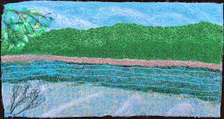 52 Ways to Look at the River, week 51 panel, by Sue Reno