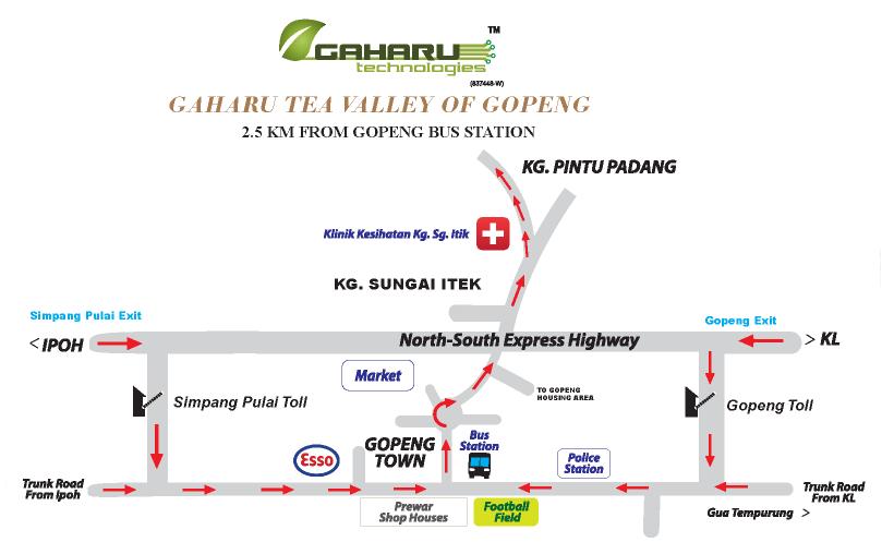 map @ Gaharu Tea Valley Gopeng, Perak