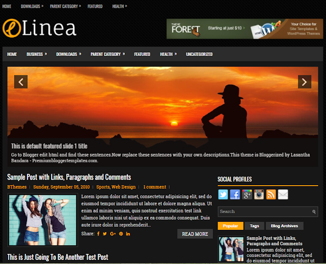 Linea Blogger Template