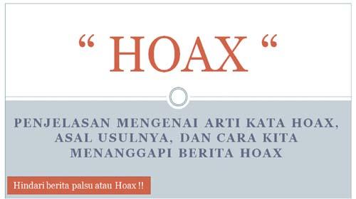 arti kata hoax