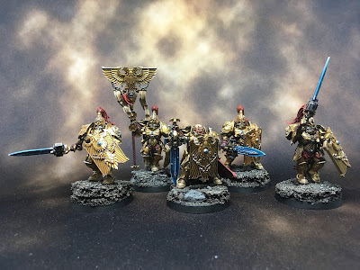 WIP Adeptus Custodes or Custodian Guard squad gallery shot