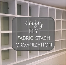 Easy DIY wall cubby shelf for fat quarters, fabric and craft storage by Sew at Home Mummy