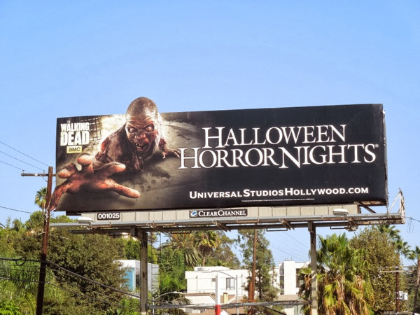 Walking Dead zombie Halloween Horror Nights billboard
