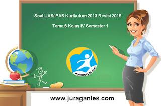 Kumpulan Download Soal UAS/ PAS Tema 5 Kelas 4 SD Semester 1 K13 Revisi 2018