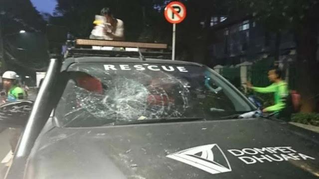 Ambulans Dompet Dhuafa Diserang Aparat Keamanan, Tiga Petugas Medis Luka