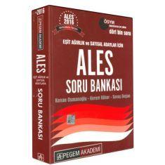 Pegem Eşit Ağırlık ve Sayısal Adaylar İçin ALES Soru Bankası (2016)