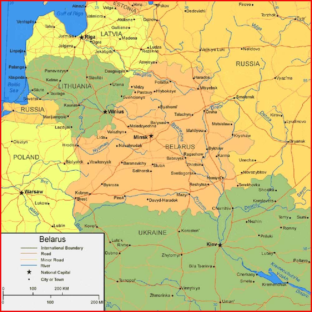 image: Belarus Map High resolution