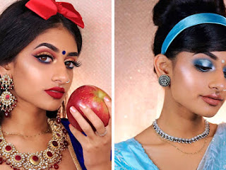 Modelo mostra como as princesas da Disney pareceriam se fosse indianas