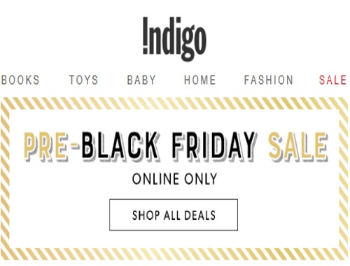 Chapters Indigo Pre-Black Friday Sale