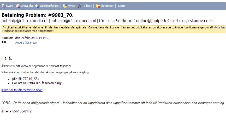 skräppost telia mail