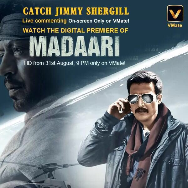 Watch Madaari Digital Premiere on VMate