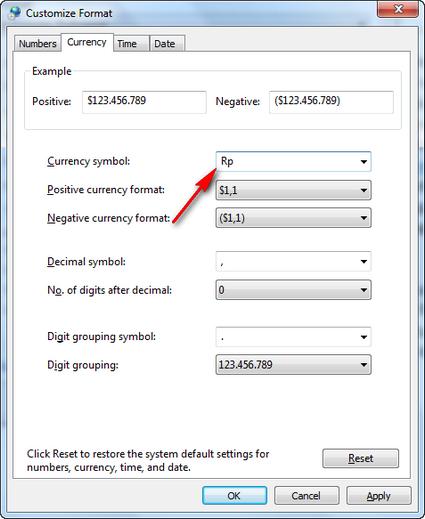 Format Mata Uang Di Ms Word : format, Merubah, Default, Satuan, Accounting, Menjadi, Excel, @Si_W0nk