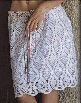 Falda calada a Crochet