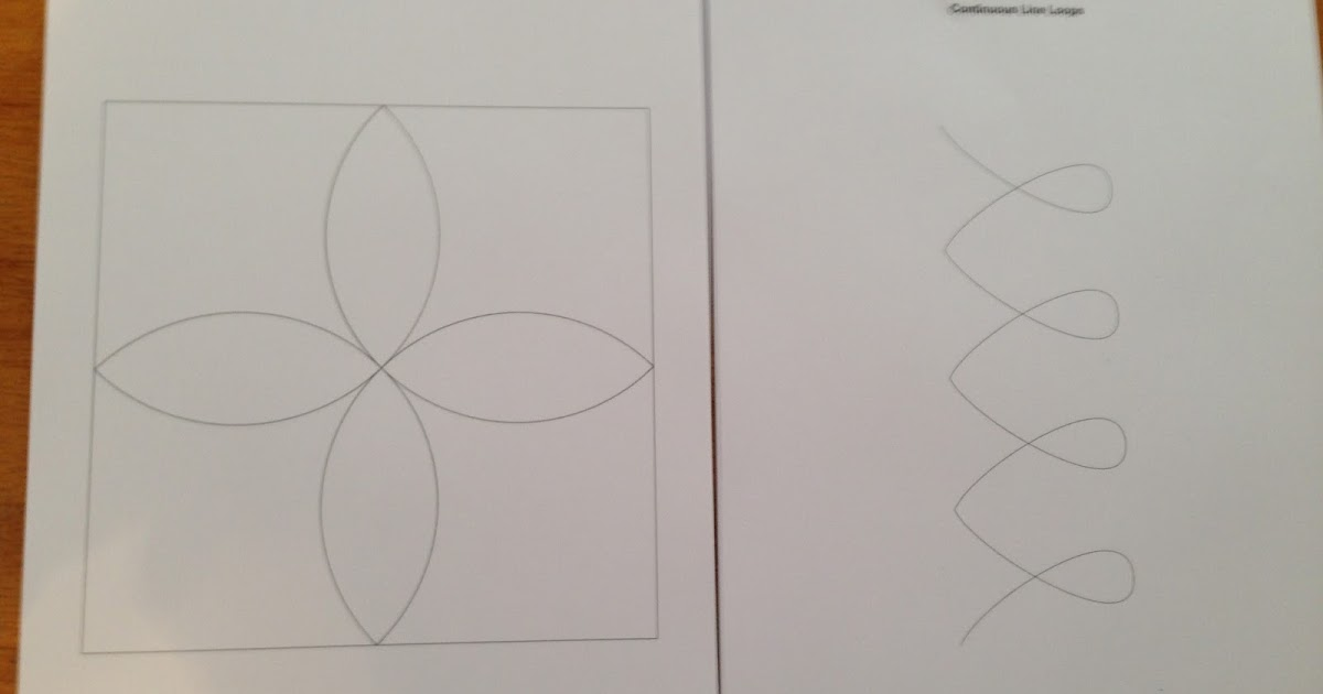 Quilting Line Templates : Sew Practical Patterns and More: Pumpkin Seed and Continuous Line Loops Quilting Templates