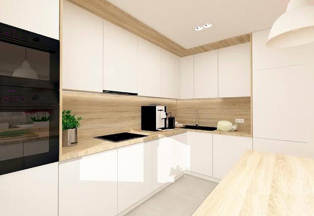 30 ideas de cocinas en blanco y madera i cocinas con - Encimera de madera para cocina ...