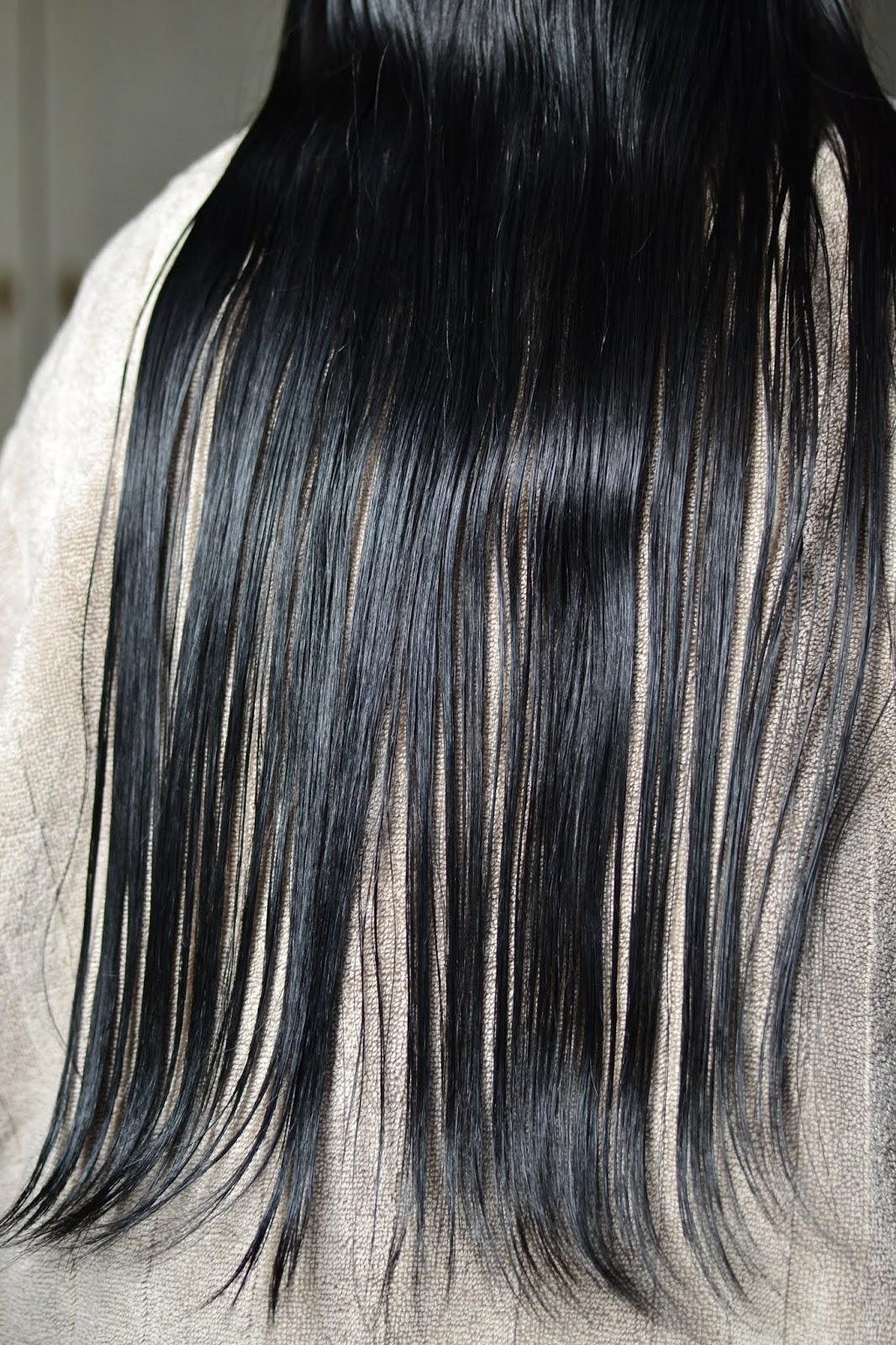 mycie na długości włosów maską