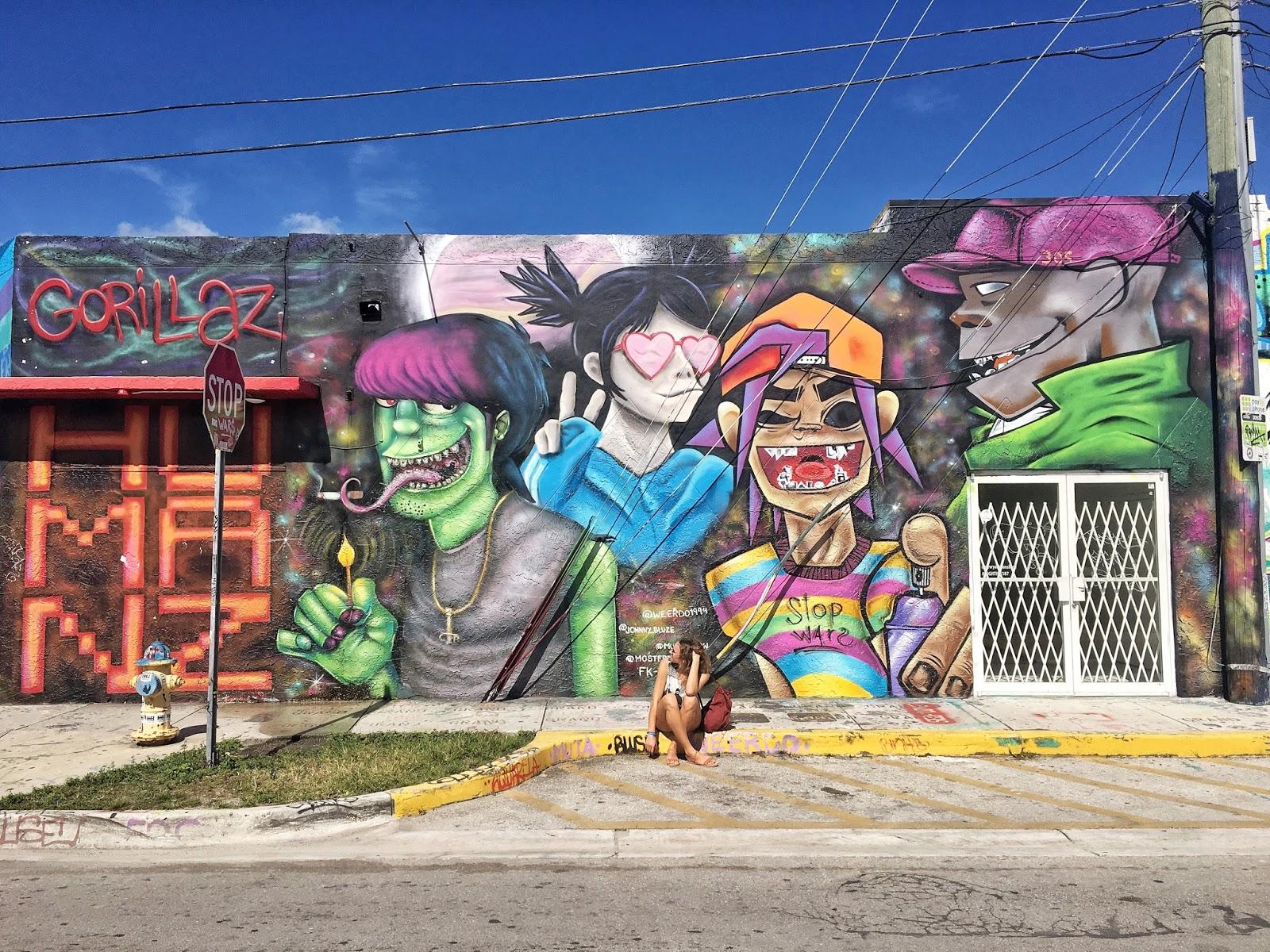 Miami, USA, Gorillaz mural