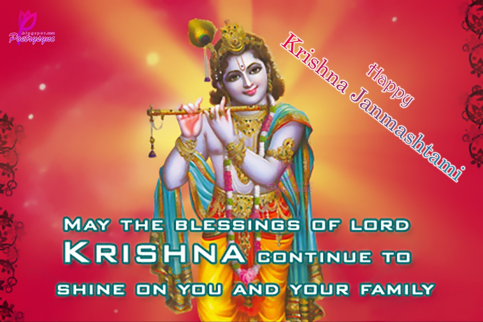Great Looking Happy Krishna Janmashtami 2016 Greetings Cards Top