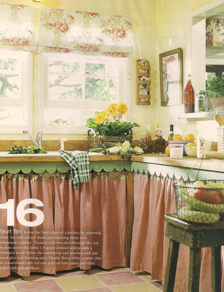 Eye For Design Decorating With Skirted Kitchen Cabinets And Sinks