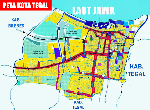 Gambar Peta Kota Tegal