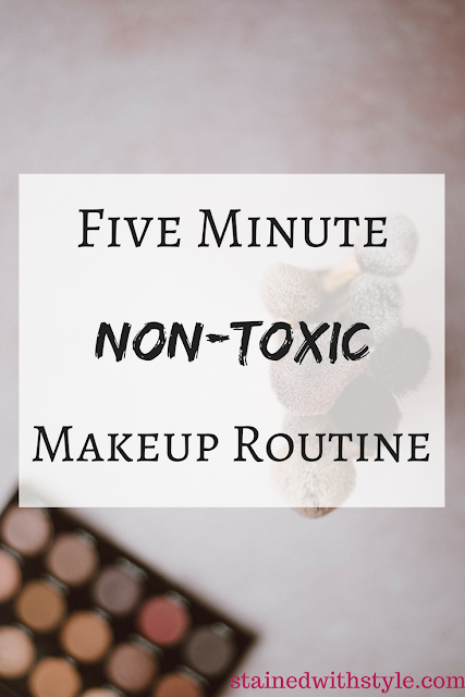 five minute face tips and products I use