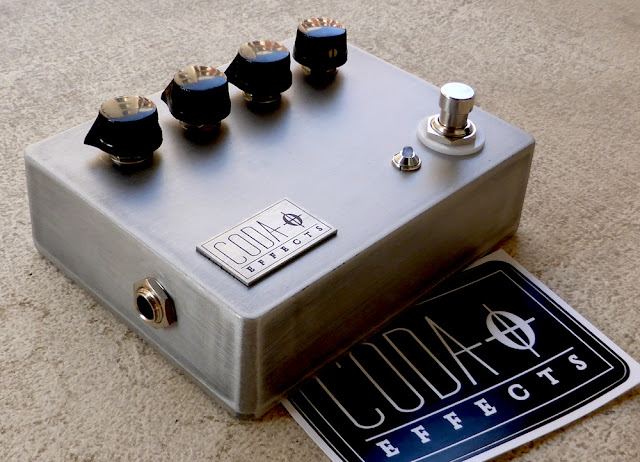 Polished guitar pedal