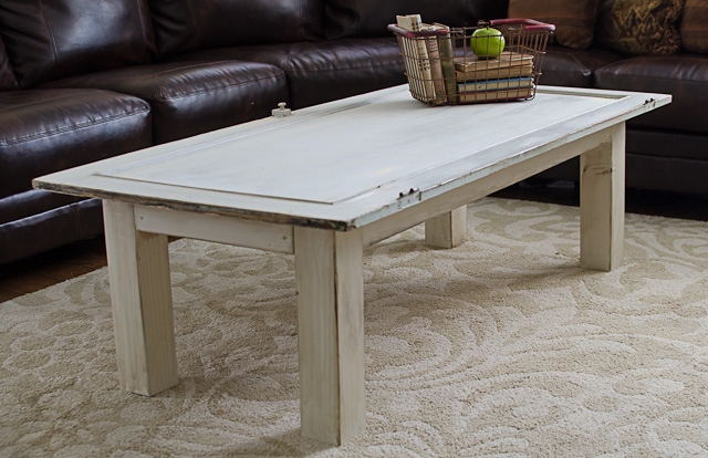 Start at Home: Old Door Turned Coffee Table!!