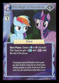 MLP The Magic of Adventure Canterlot Nights CCG Card