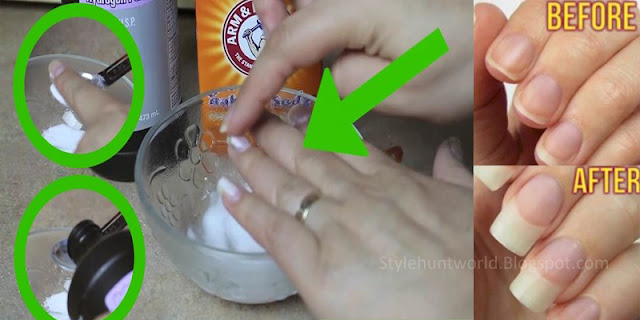 Rub Some Baking Soda On Your Nails And Watch Happens! This Trick Will Change Your Life!