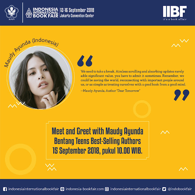 Maudy Ayunda indonesia intenational book fair 2018