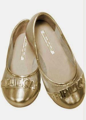 Sapatilha Dourada Lilica Ripilica infantil estilo metalizada