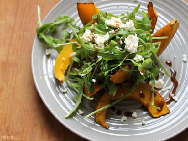 Lauwarmer Kürbissalat - Soulfood für Ekelwettertage