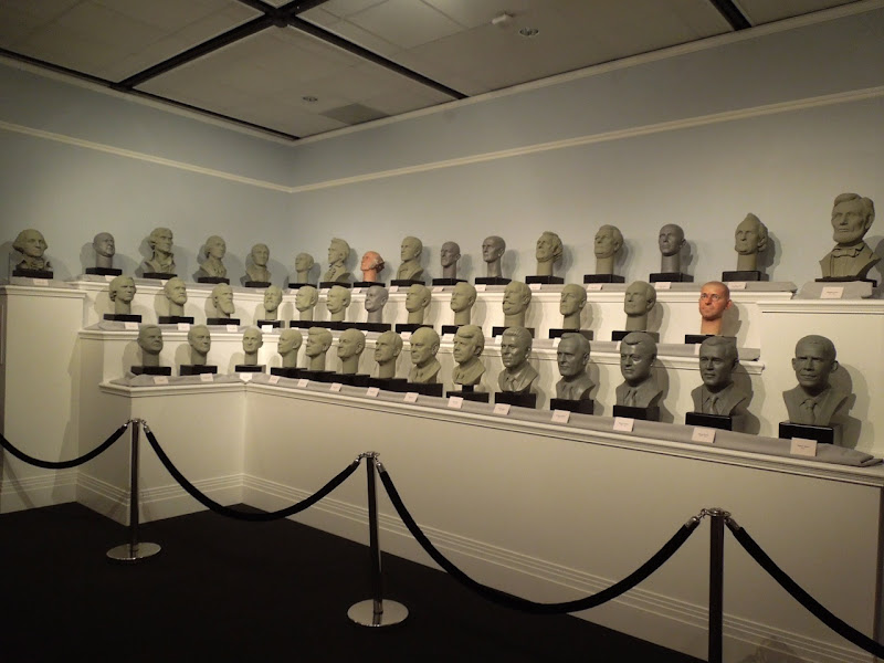 Disney Hall of Presidents busts