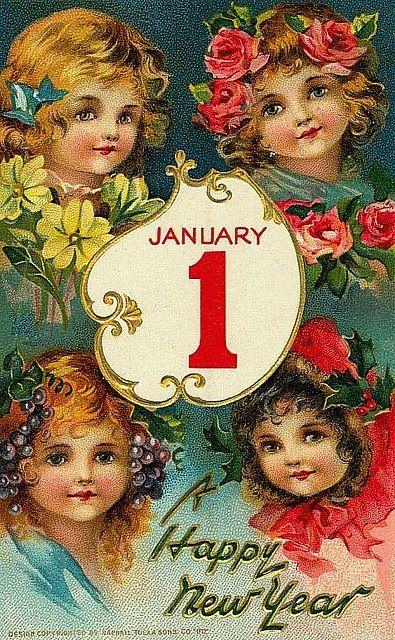 Carte ancienne Jour de l'an