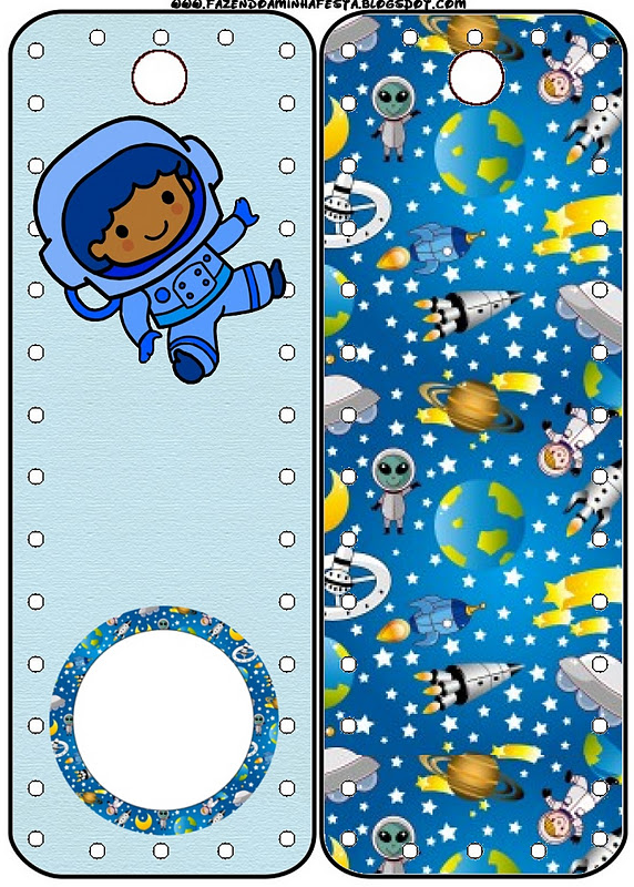 astronaut party printables - 572×800