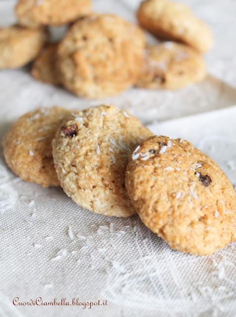 Biscotti Vegan con Cocco e Lamponi