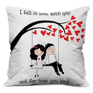 Boyfriend Girlfriend Love Printed Cushion