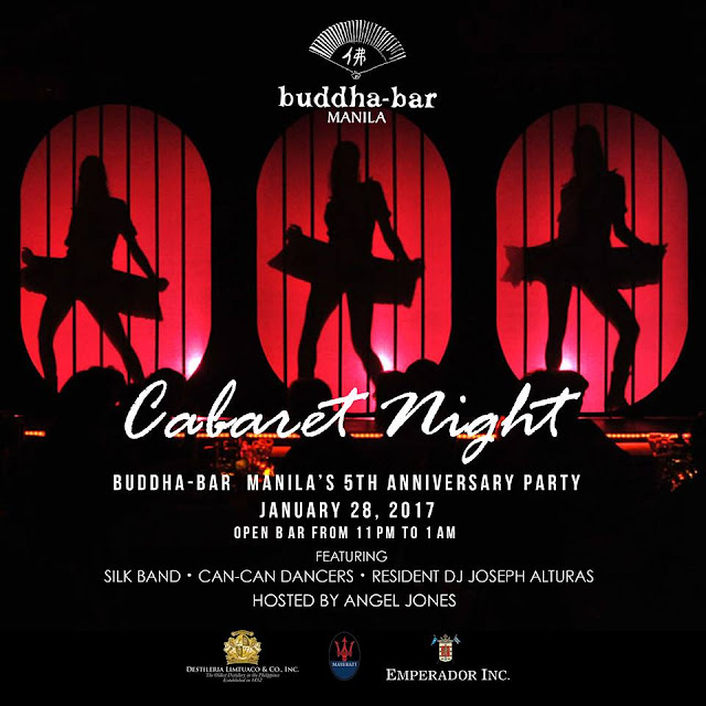 Buddha-Bar Manila to host Cabaret Night for its 5th Anniversary