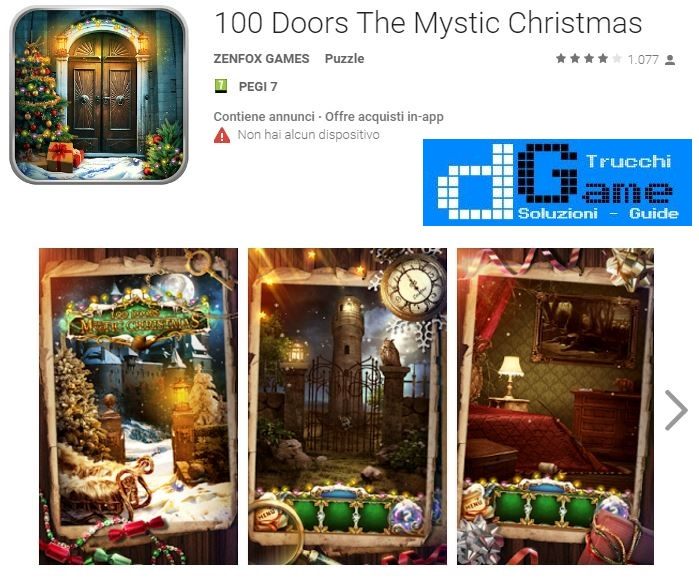 Soluzioni 100 Doors The Mystic Christmas livello 81 82 83 84 85 86 87 88 89 90 | Trucchi e Walkthrough level